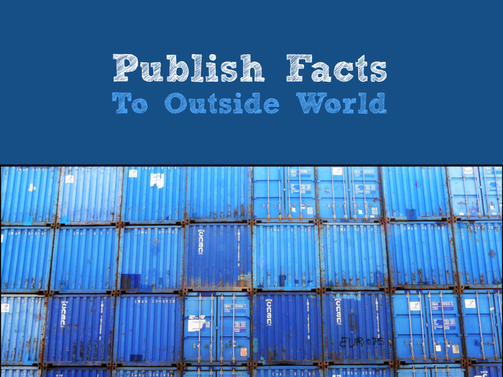 Publish Facts To Outside World