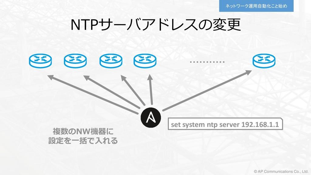 ネットワーク運用自動化こと始め © AP Communications Co., Ltd. s...