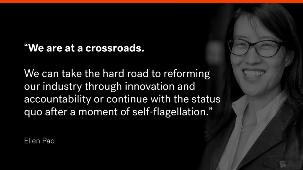 """Ellen Pao """"We are at a crossroads. We can take ..."""