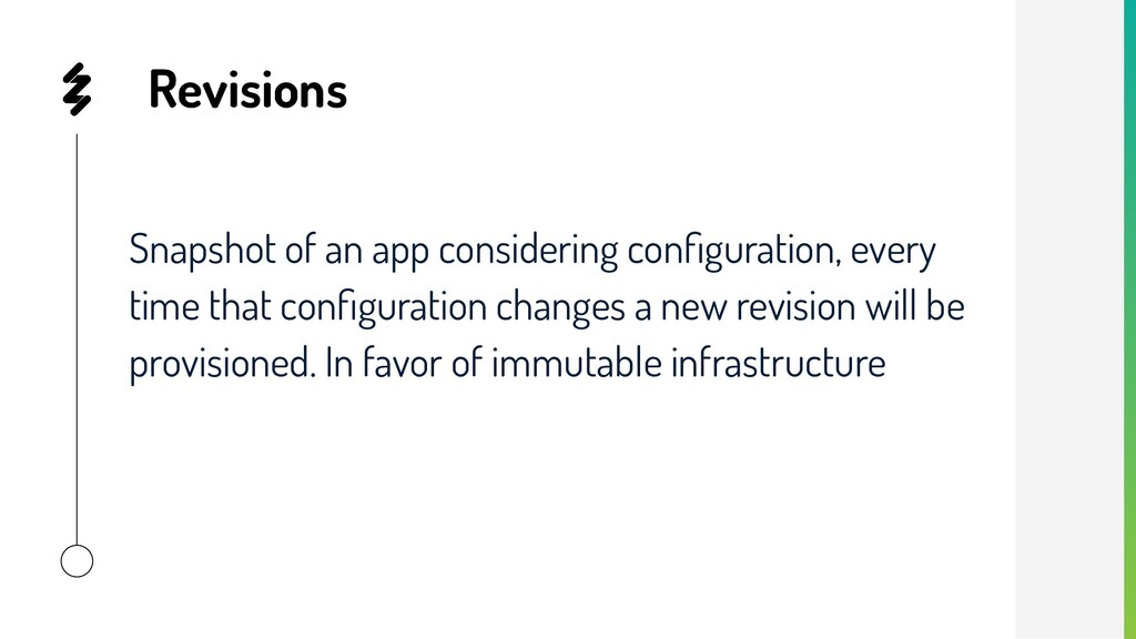 Revisions Snapshot of an app considering configu...
