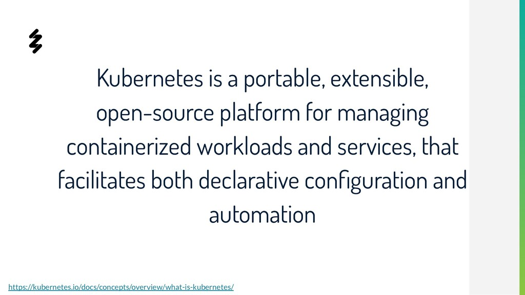 Kubernetes is a portable, extensible, open-sour...