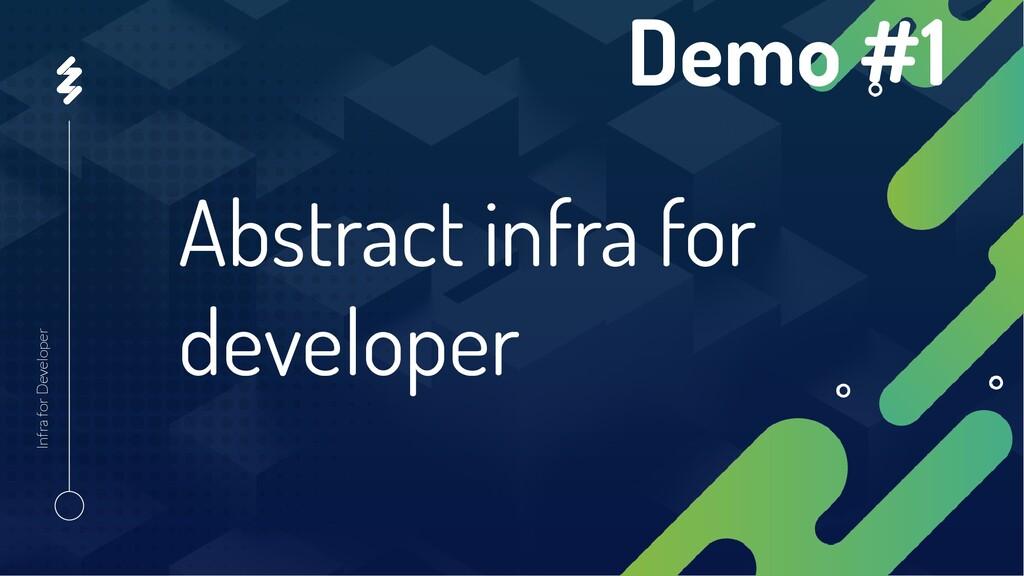 Abstract infra for developer Infra for Develope...