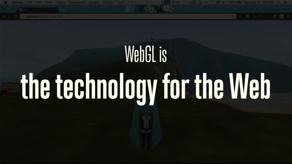 WebGL is
