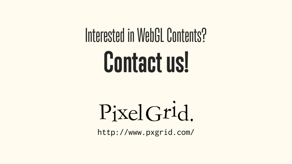 Interested in WebGL Contents? Contact us! http:...