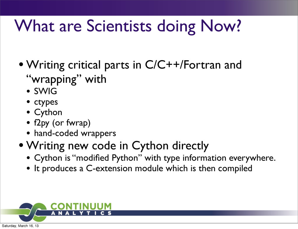 What are Scientists doing Now? • Writing critic...
