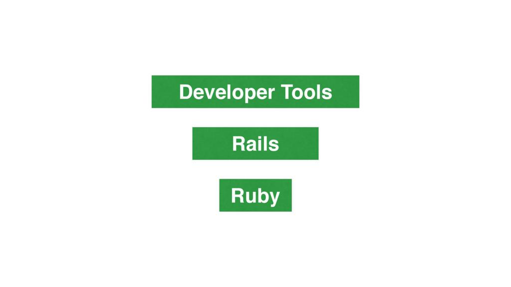 Rails Ruby Developer Tools