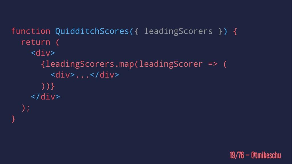 function QuidditchScores({ leadingScorers }) { ...