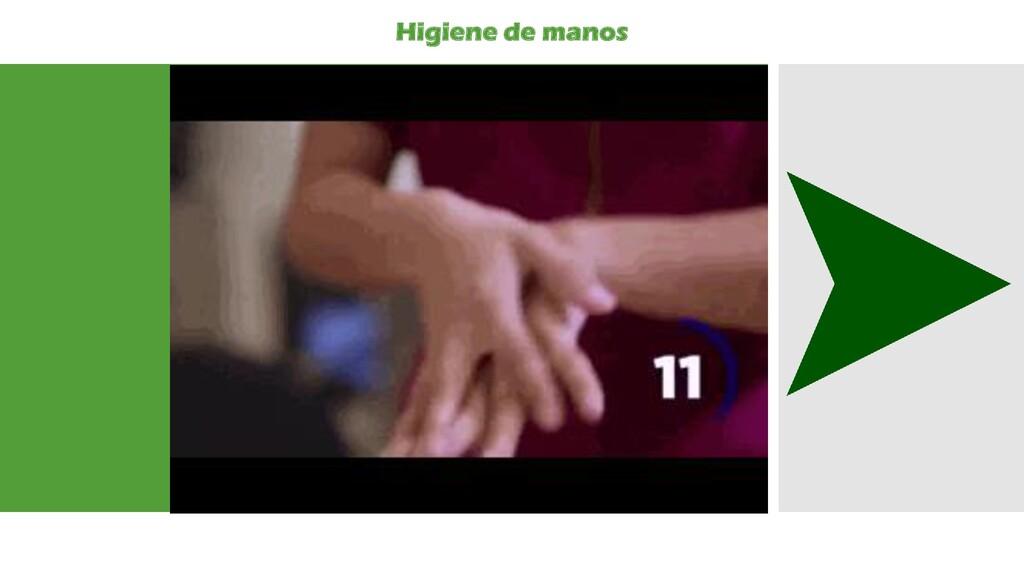 Higiene de manos
