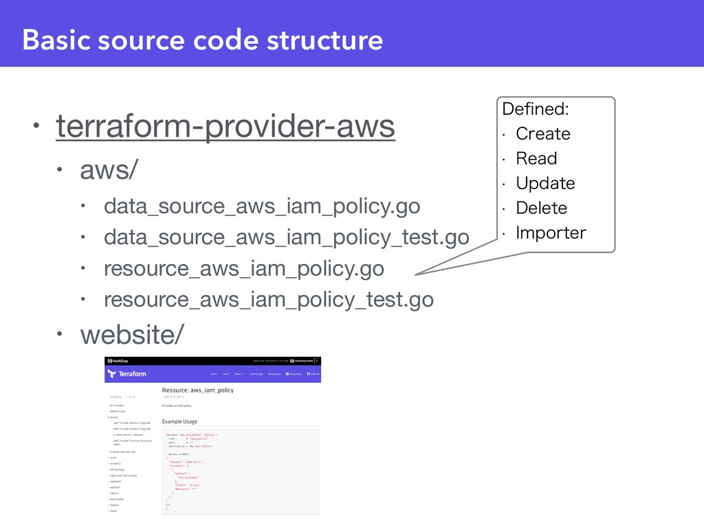 Basic source code structure • terraform-provide...