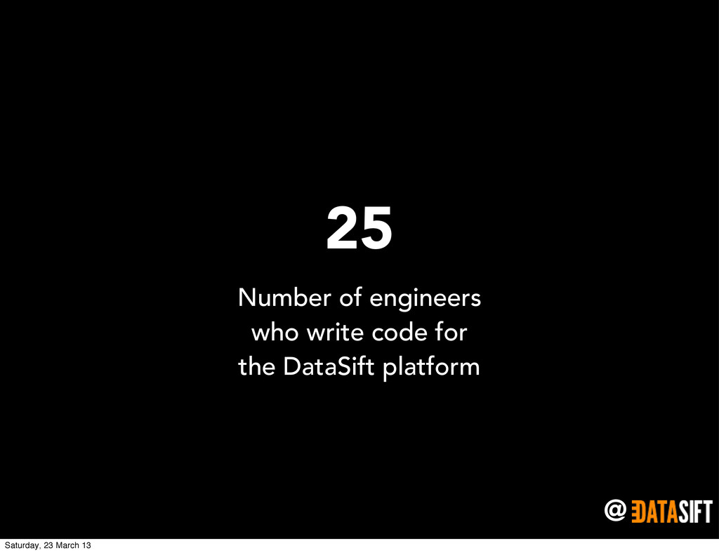 @ 25 Number of engineers who write code for the...