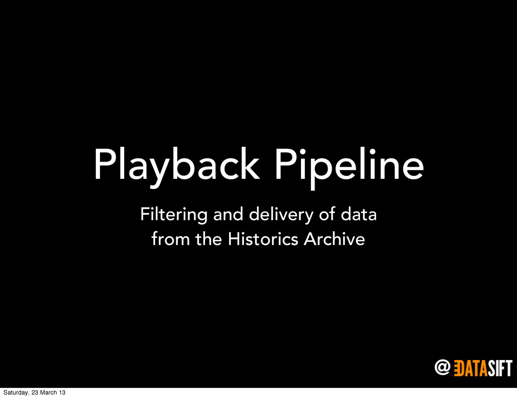 @ Playback Pipeline Filtering and delivery of d...