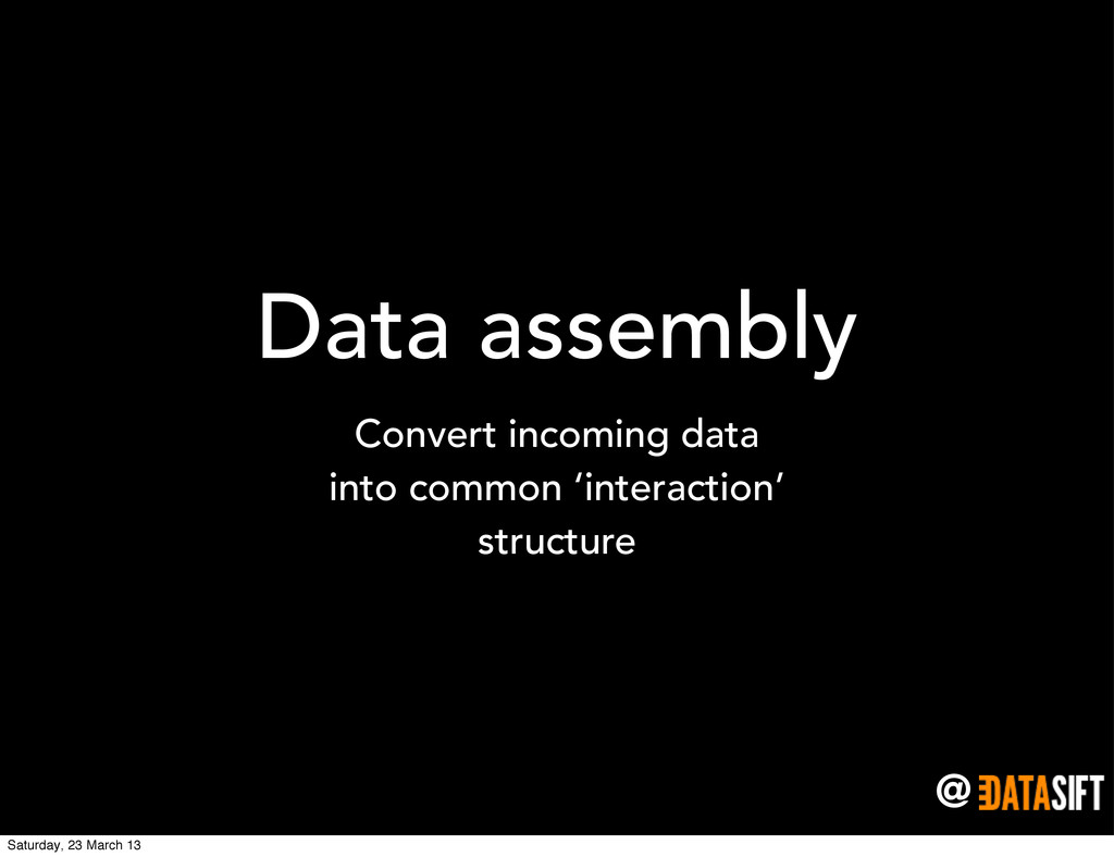 @ Data assembly Convert incoming data into comm...