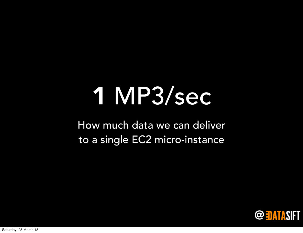 @ 1 MP3/sec How much data we can deliver to a s...