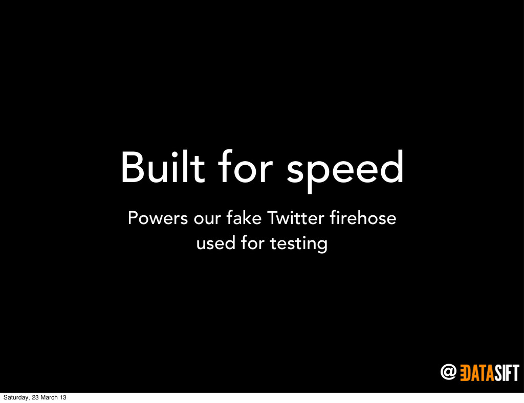 @ Built for speed Powers our fake Twitter fireh...