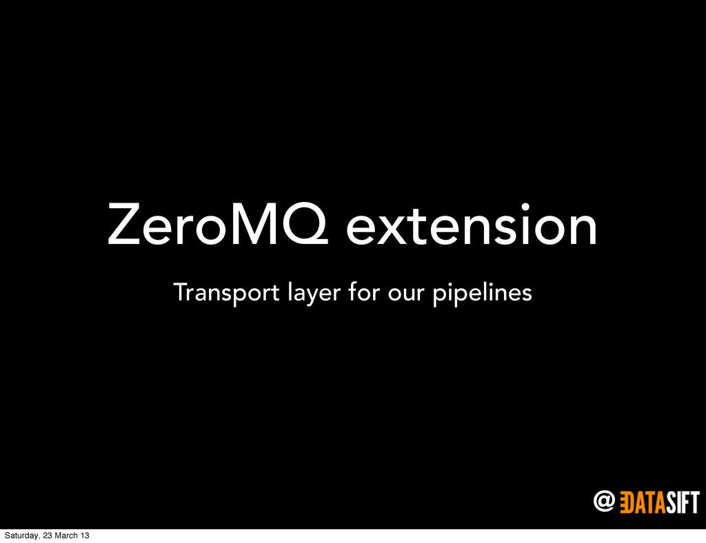 @ ZeroMQ extension Transport layer for our pipe...