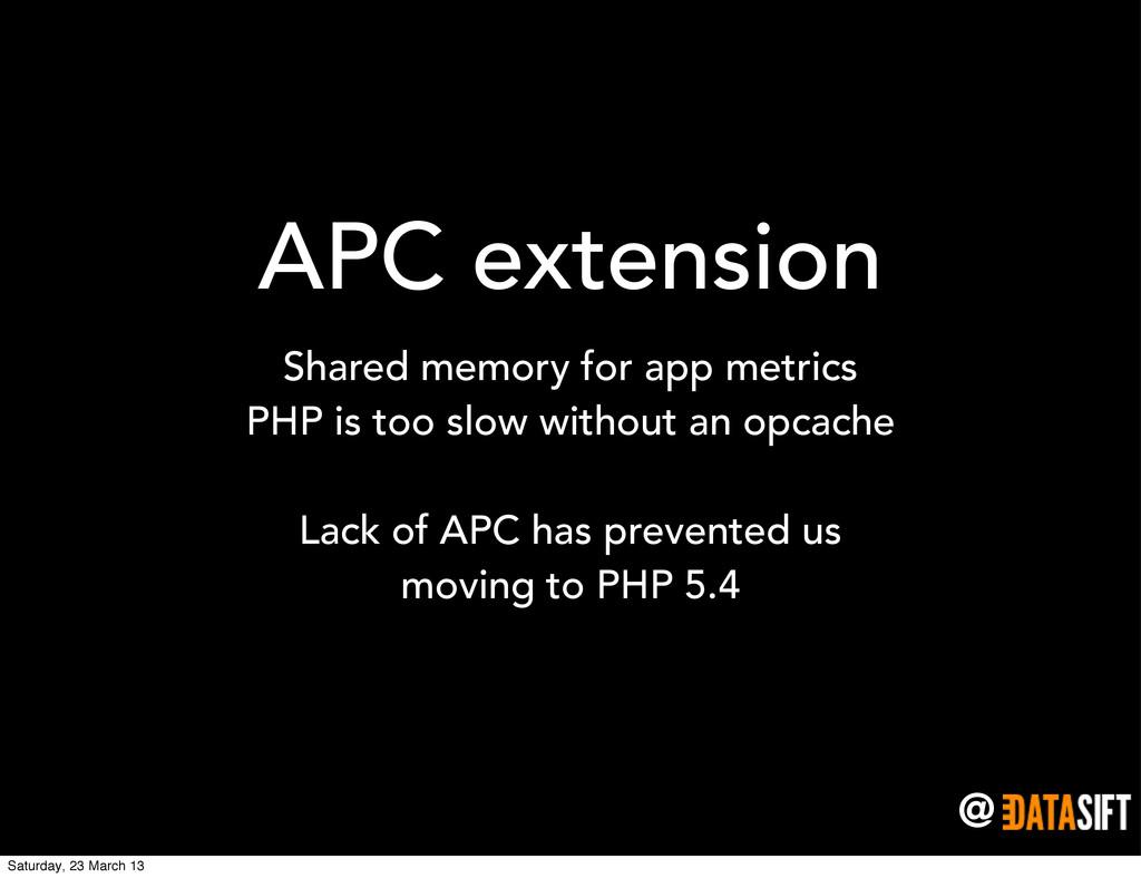 @ APC extension Shared memory for app metrics P...