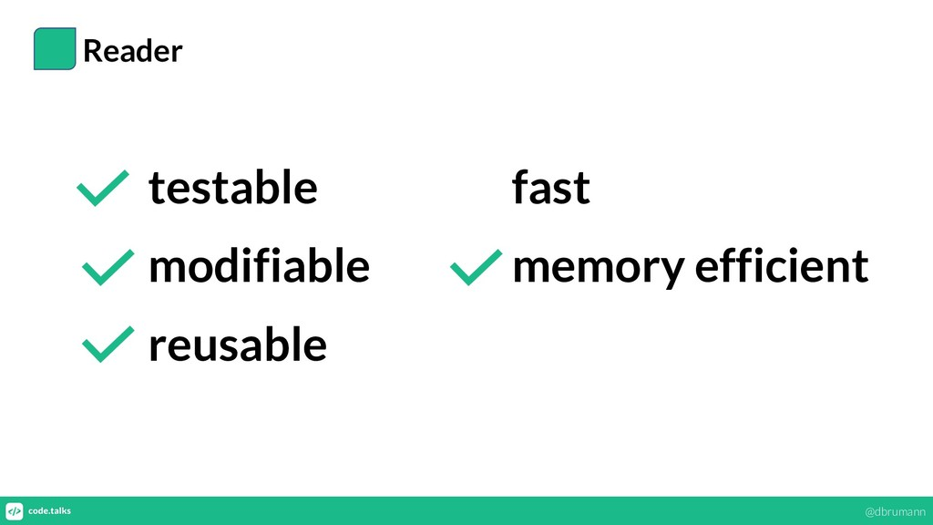 Reader testable modifiable reusable fast memory...