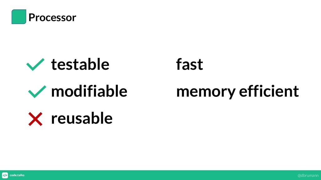 Processor testable modifiable reusable fast mem...