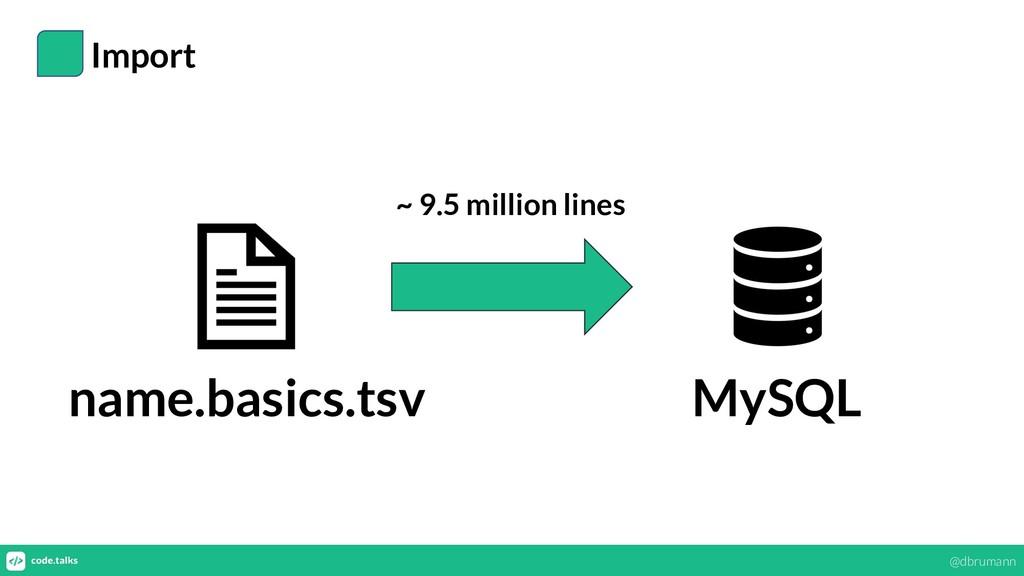 Import name.basics.tsv MySQL ~ 9.5 million line...