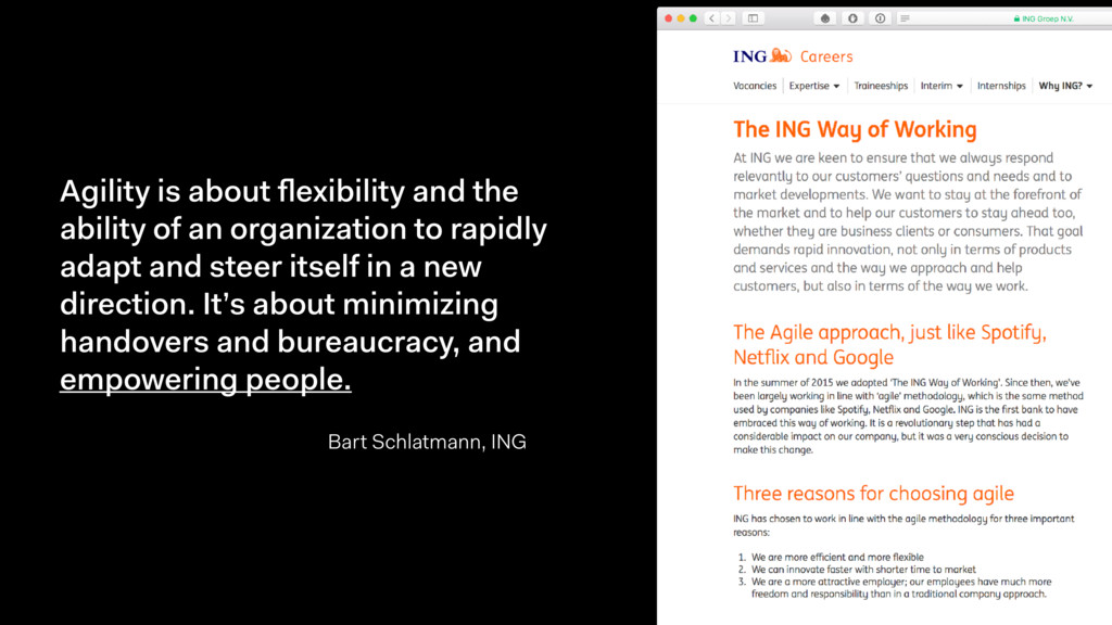 Agility is about flexibility and the ability of ...