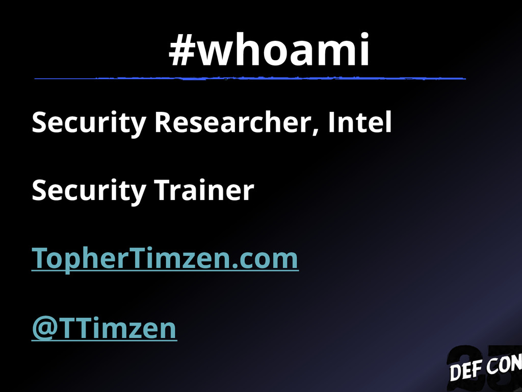 Security Researcher, Intel Security Trainer Top...