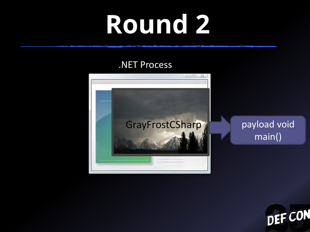 Round 2 .NET Process payload void main() GrayFr...