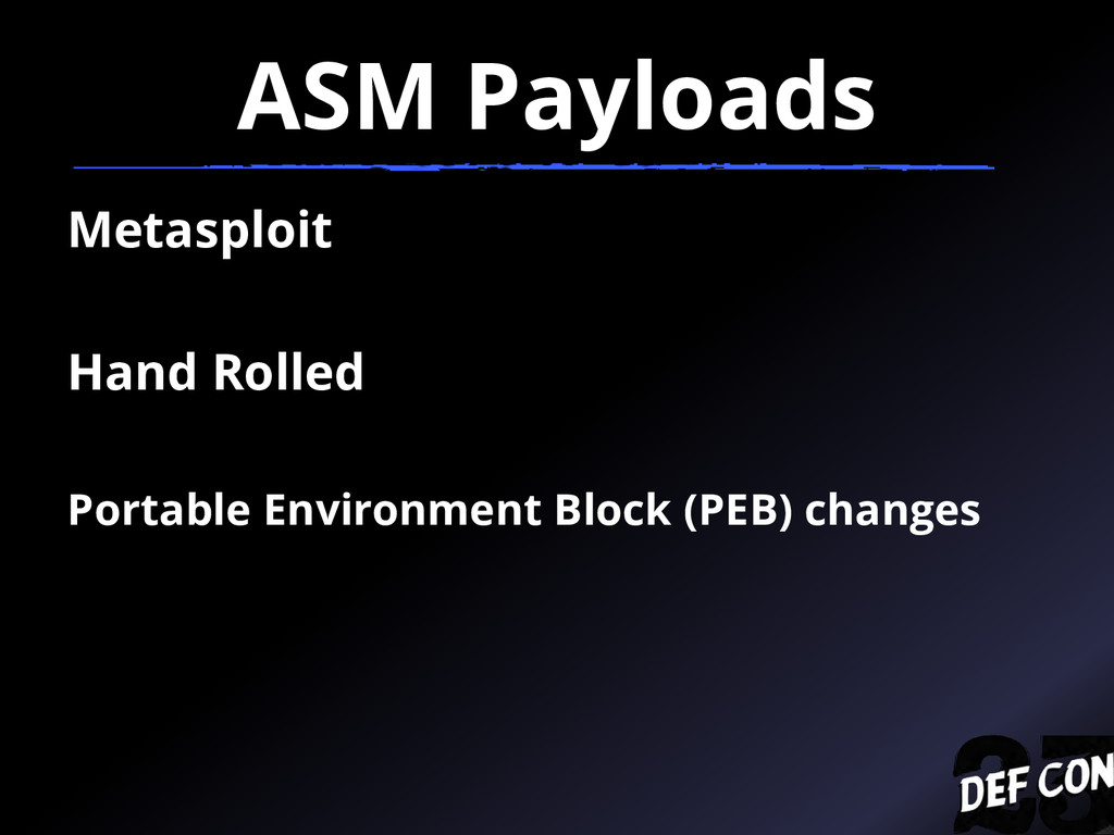 ASM Payloads Metasploit Hand Rolled Portable En...