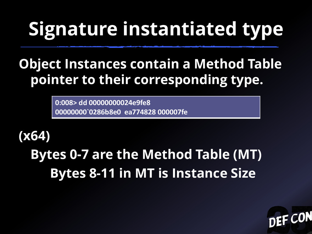 Signature instantiated type Object Instances co...