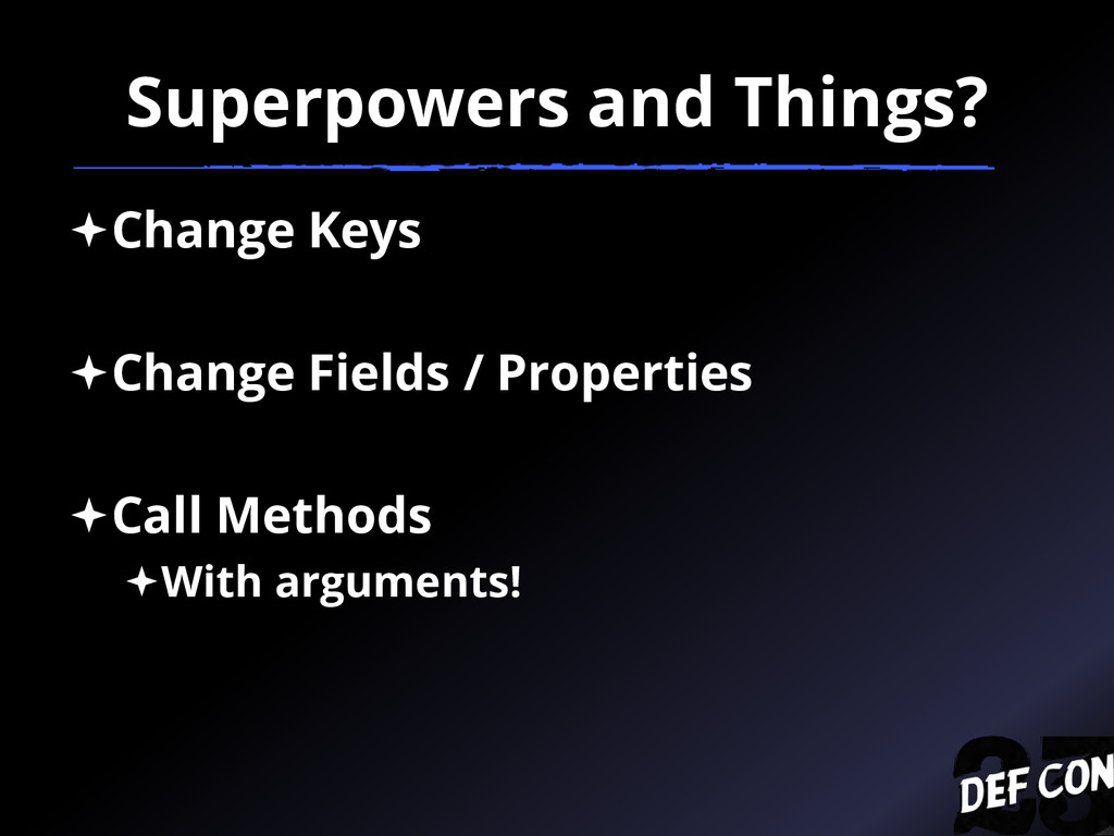 Superpowers and Things? Change Keys Change Fi...