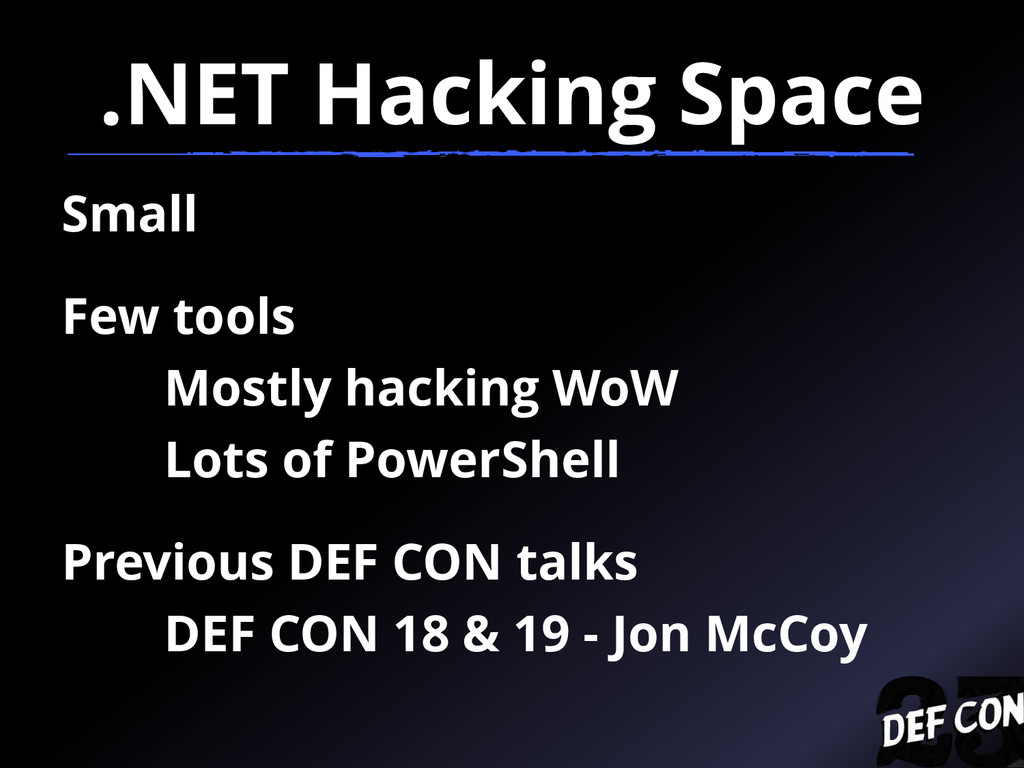 .NET Hacking Space Small Few tools Mostly hacki...