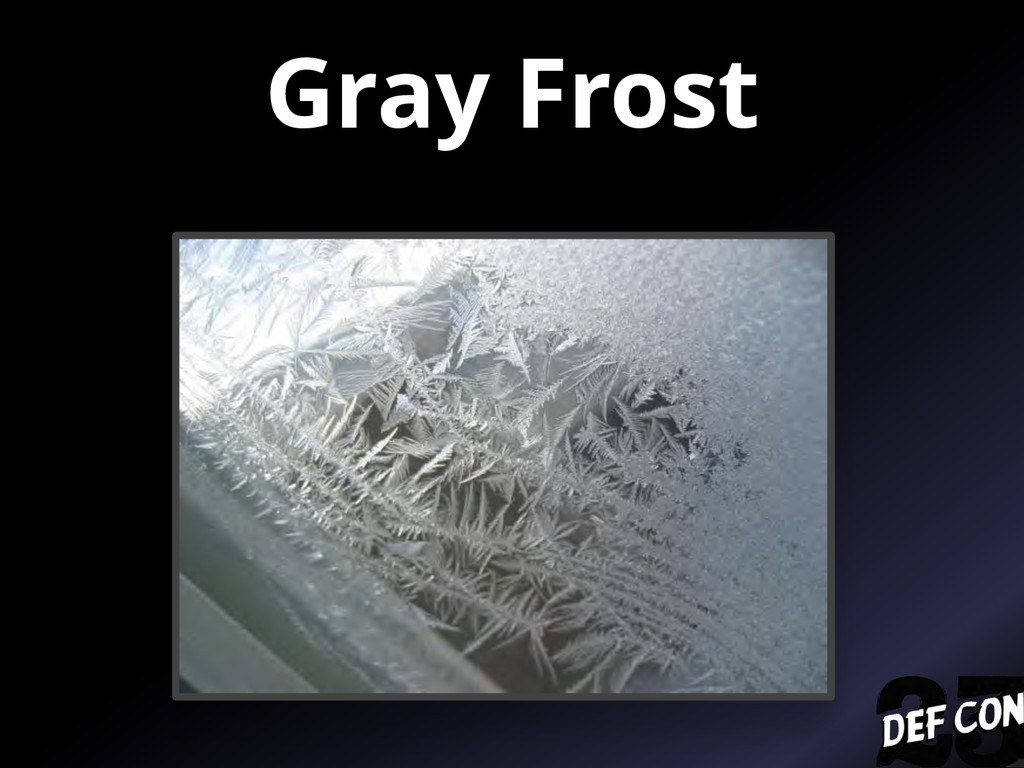 Gray Frost