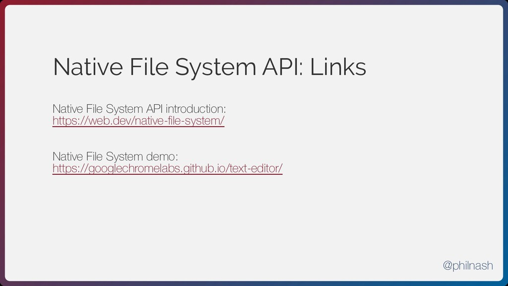 Native File System API: Links Native File Syste...