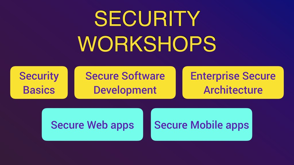 Security Basics SECURITY WORKSHOPS Enterprise S...