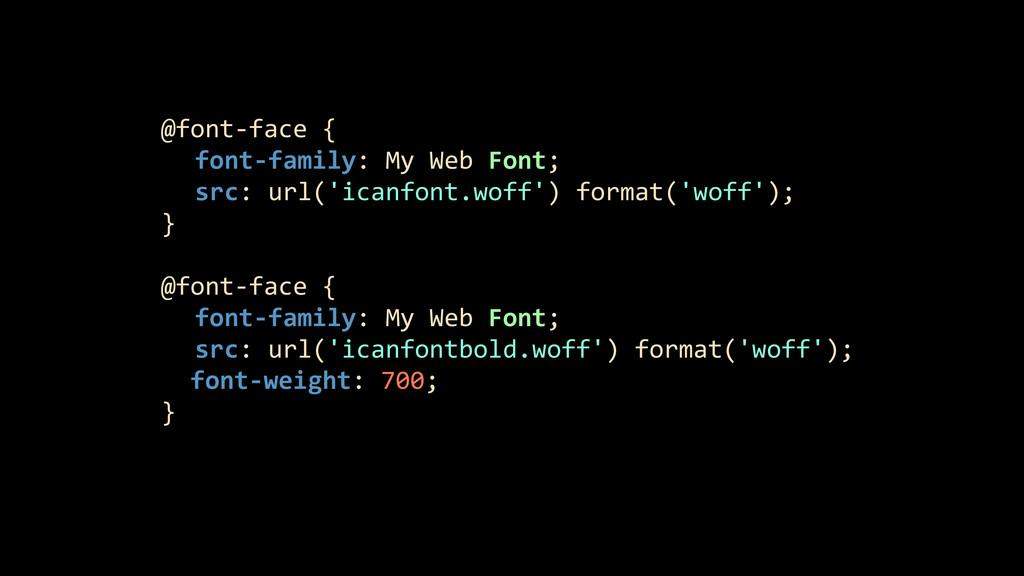 @font-‐face {     font-‐family:...