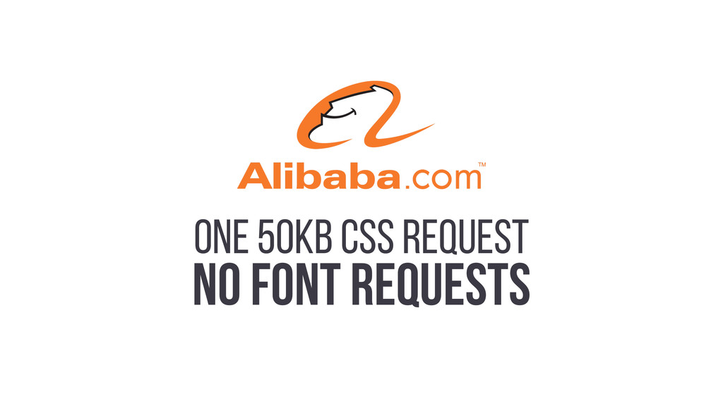 ONE 50KB CSS REQUEST NO FONT REQUESTS