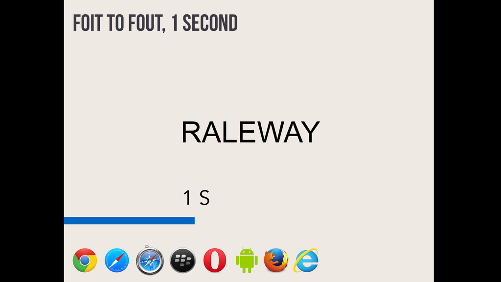 1 S FOIT to FOUT, 1 second RALEWAY