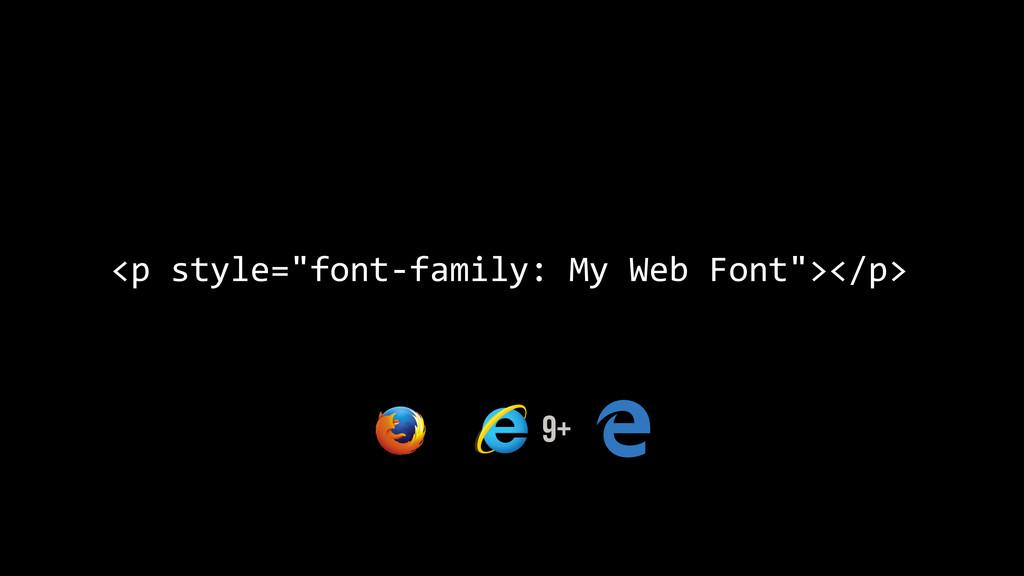 "<p style=""font-‐family: My Web Fon..."