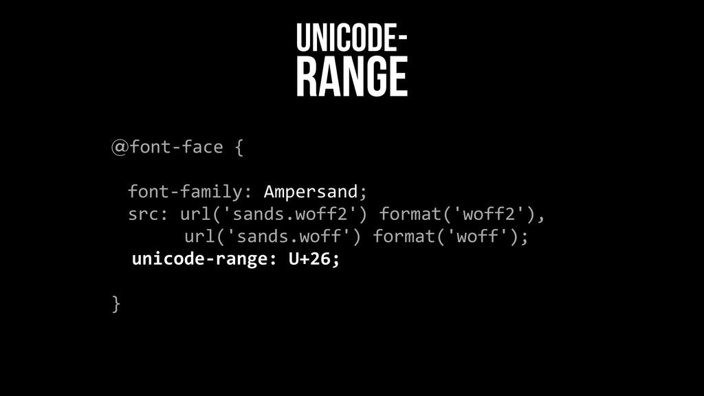 @font-‐face {    font-‐family: Am...