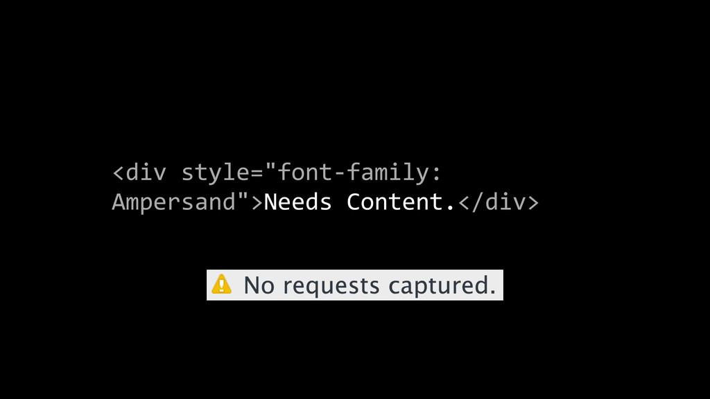 """<div style=""""font-‐family:  Ampersand"""">Ne..."""