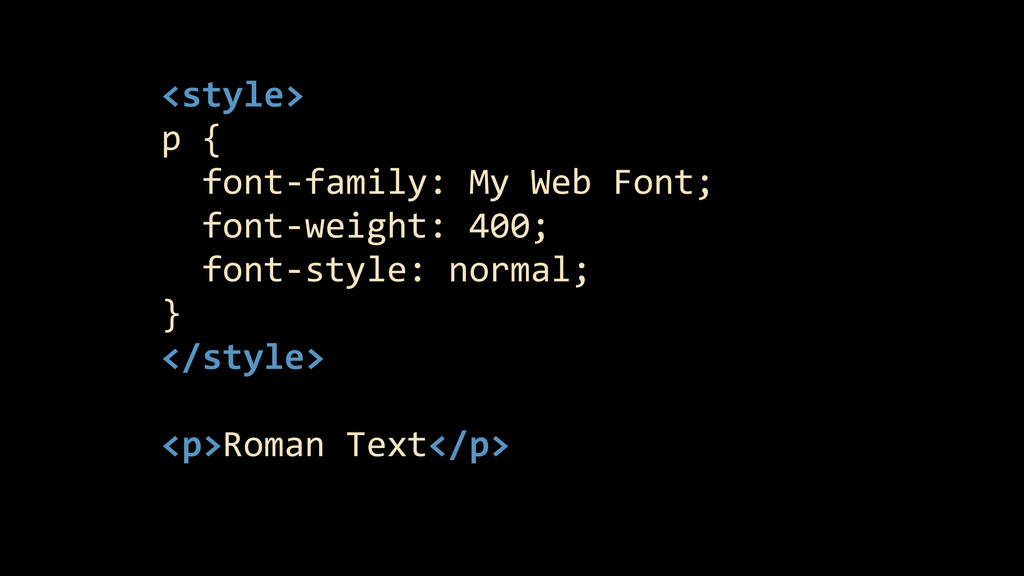 <style>  p {    font-‐family:...