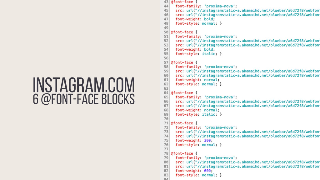 instagram.com 6 @font-face BLOCKS