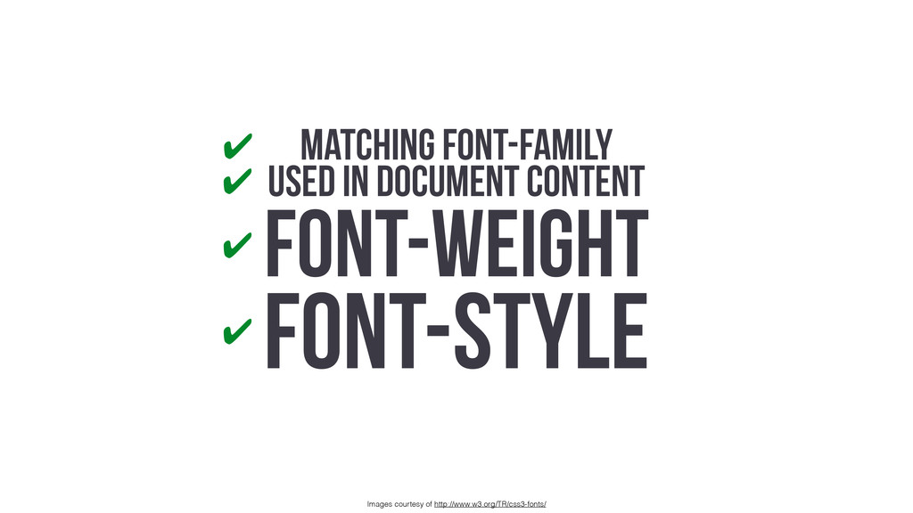 Matching Font-Family USED IN DOCUMENT CONTENT F...