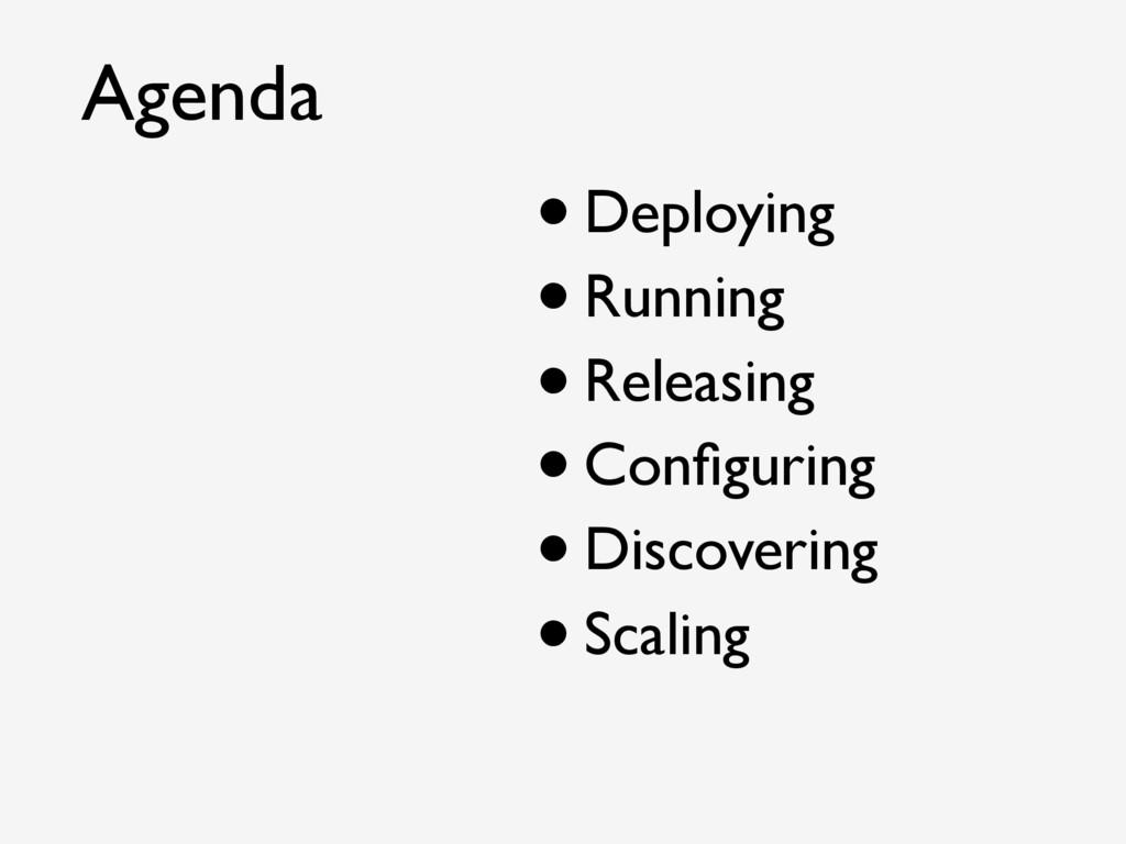 •Deploying •Running •Releasing •Configuring •Dis...