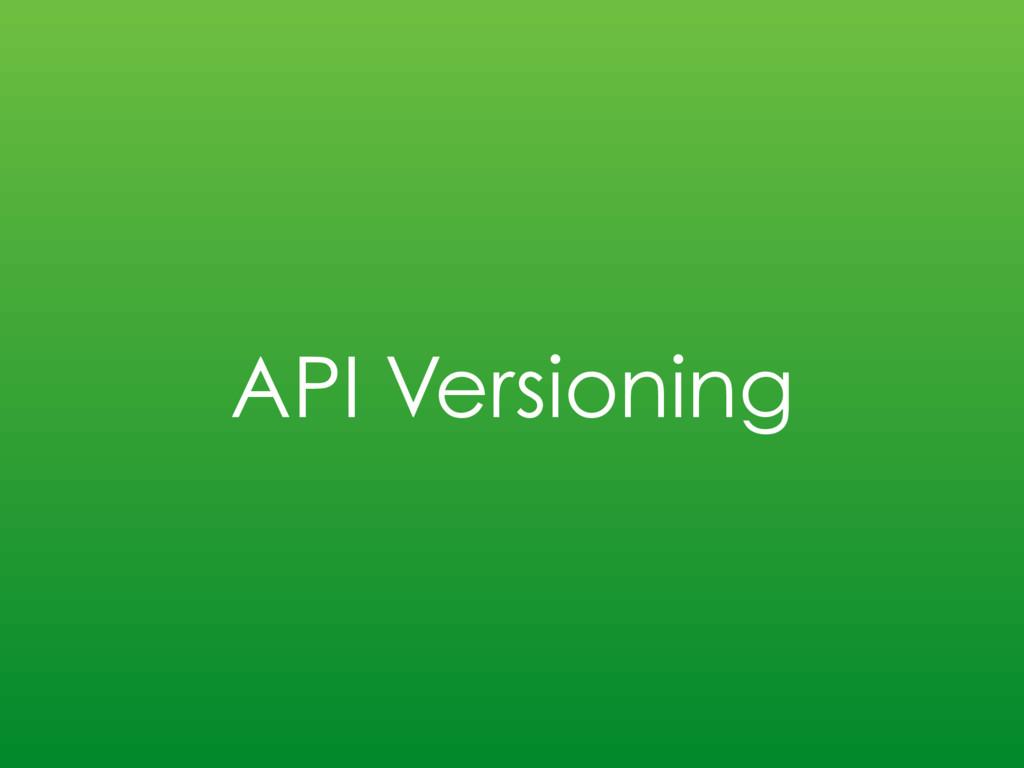 API Versioning