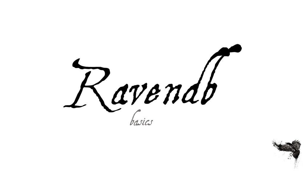 Ravendb basics