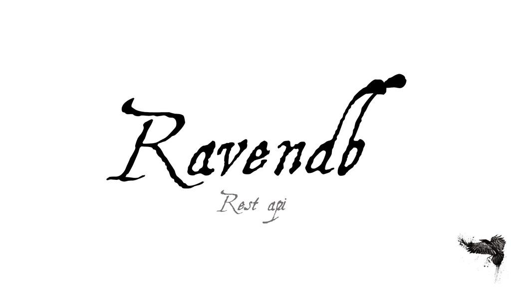 Ravendb Rest api