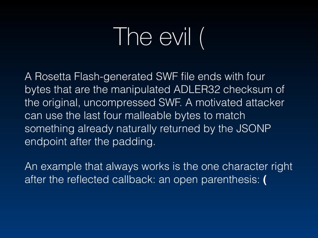 The evil ( A Rosetta Flash-generated SWF file en...
