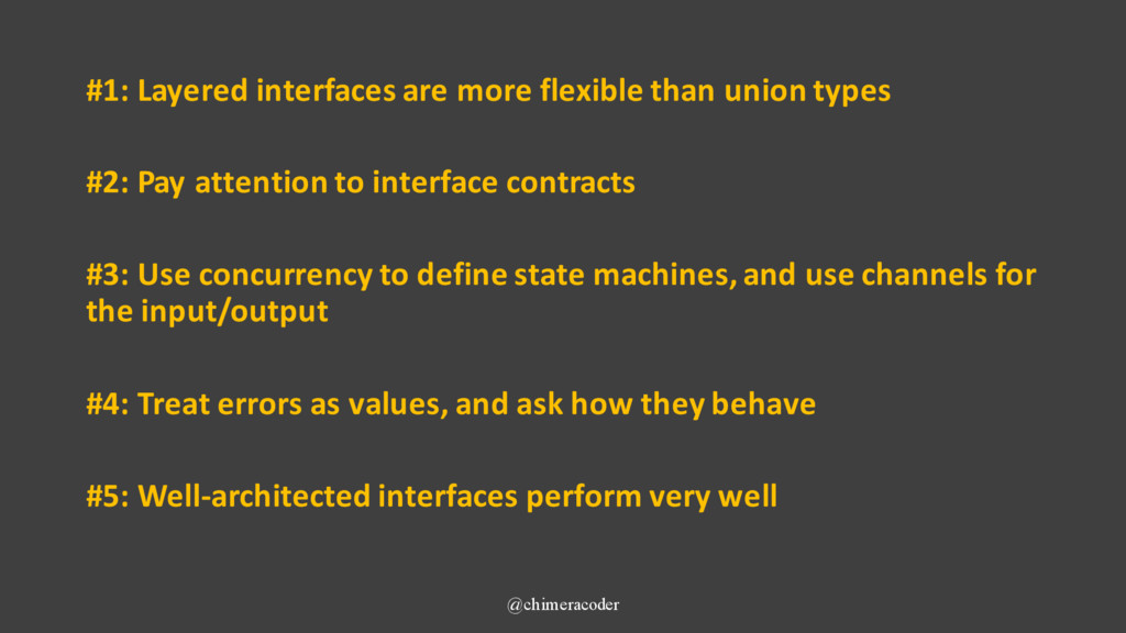 #1: Layered interfaces are more flexible than u...