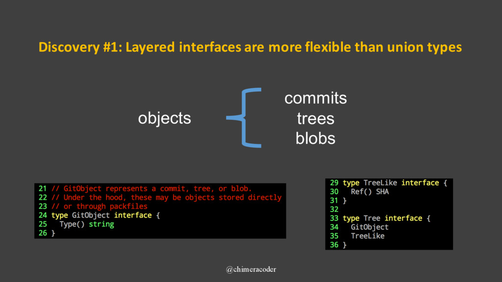 Discovery #1: Layered interfaces are more flexi...